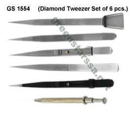 Diamond Tweezer Set