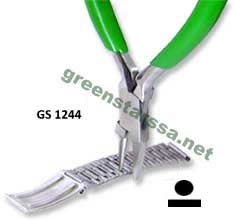 Plier for chain link remover flat/round nose
